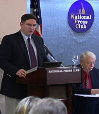 Josh First spoke at the National Press Club